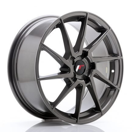 JAPAN RACING JR Wheels JR36 18x8 ET20-52 5H BLANK Hyper Gray 8.00x18