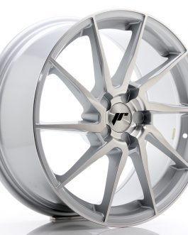 JR Wheels JR36 18×8 ET20-52 5H BLANK Silver Brushed Face