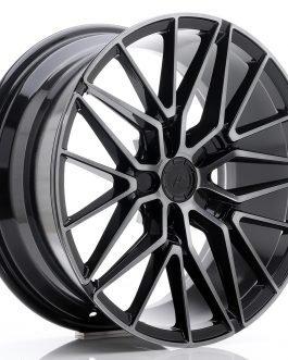 JR Wheels JR38 18×8 ET35-42 5H BLANK Black Brushed w/Tinted Face