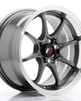 JR Wheels JR5 15×8 ET28 4×100 Gun Metal w/Machined Lip