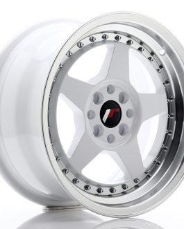 JR Wheels JR6 16×8 ET25 4×100/108 White w/Machined Lip