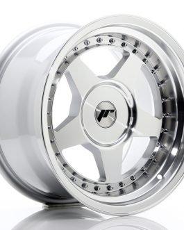 JR Wheels JR6 16×9 ET0-20 BLANK Silver Machined Face