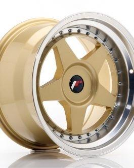 JR Wheels JR6 17×10 ET20 BLANK Gold w/Machined Lip