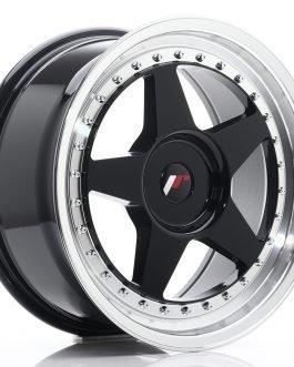 JR Wheels JR6 17×8 ET20-35 BLANK Gloss Black w/Machined