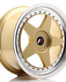JR Wheels JR6 18×8,5 ET20-40 BLANK Gold w/Machined Lip