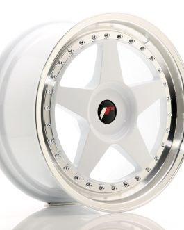 JR Wheels JR6 18×8,5 ET20-40 BLANK White w/Machined Lip