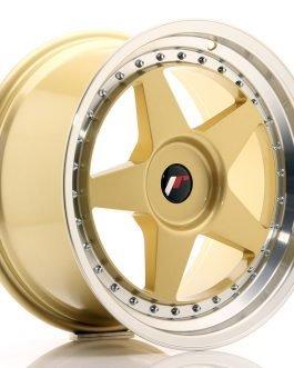 JR Wheels JR6 18×9,5 ET20-40 BLANK Gold w/Machined Lip