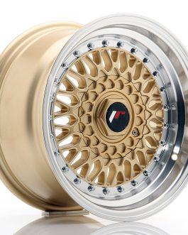 JR Wheels JR9 15×8 ET20 BLANK Gold w/Machined Lip