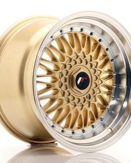 JR Wheels JR9 17×10 ET20 BLANK Gold w/Machined Lip
