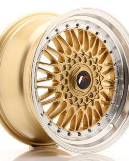 JR Wheels JR9 17×8,5 ET20-35 BLANK Gold w/Machined Lip