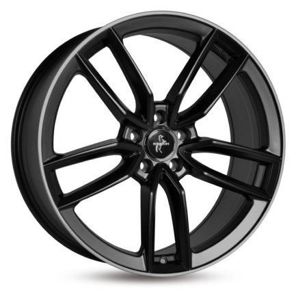 Keskin-Tuning KT21 Matt Black Lip Polish 8.5x20 ET: 30 - 5x112