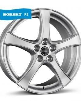 Borbet F2 brilliant silver 6.5×17 ET: 47 – 5×100