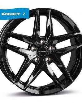 Borbet Z black glossy 7.5×17 ET: 30 – 5×112