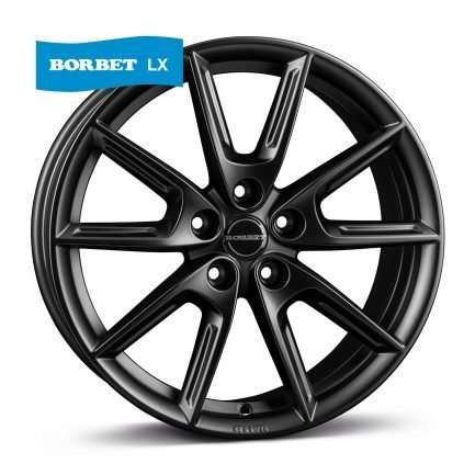 Borbet LX18 black matt 8.0x18 ET: 48 - 5x112
