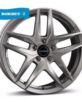 Borbet Z metal grey glossy 7.5×17 ET: 30 – 5×112