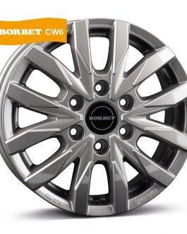 Borbet CW6 metal grey glossy 6.5×16 ET: 62 – 6×130
