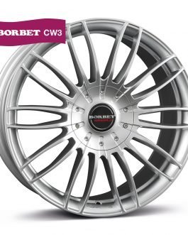 Borbet CW3 sterling silver 7.5×17 ET: 61 – 5×118