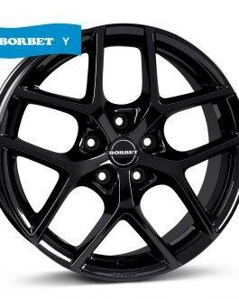 Borbet Y black glossy 7.5×17 ET: 37 – 5×112