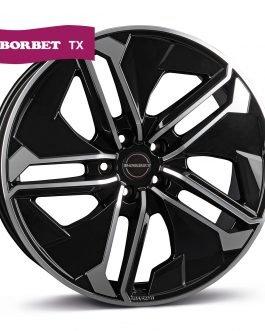 Borbet TX black polished glossy 9.0×20 ET: 45 – 5×112