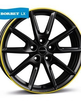 Borbet LX18 black matt rim yellow 8×18 ET: 40 – 5×112