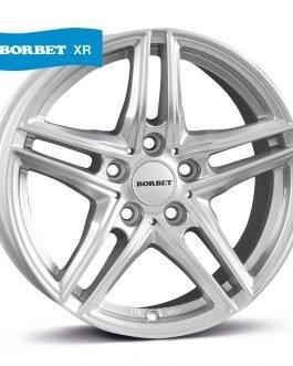 Borbet XR brilliant silver 6.5×16 ET: 22 – 5×112