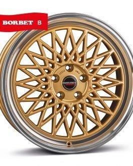 Borbet B gold rim polished 8.5×20 ET: 45 – 5×112
