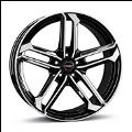 Borbet ATX black polished glossy 9.5×20 ET: 45 – 5×112