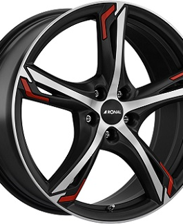 Ronal R62 RED Dull Black / Polished 7.5×17 ET: 45 – 5×108