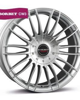 Borbet CW3 sterling silver 9×21 ET: 40 – 5×114.3