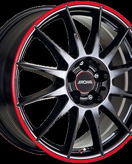 Ronal R54 MCR Gloss Black / Red 6.5×15 ET: 38 – 4×100