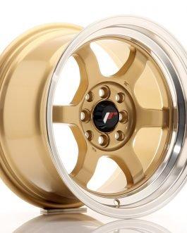 JR Wheels JR12 15×8,5 ET13 4×100/114 Gold w/Machined Lip