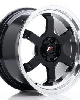 JR Wheels JR12 16×8 ET15 4×100/114 Gloss Black w/Machined Lip