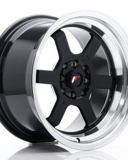 JR Wheels JR12 16×9 ET10 4×100/114 Gloss Black w/Machined Lip