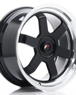 JR Wheels JR12 17×8 ET35 BLANK Gloss Black w/Machined Lip