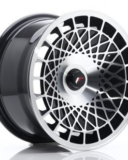 JR Wheels JR14 15×8 ET20-25 BLANK Gloss Black w/Machined Face