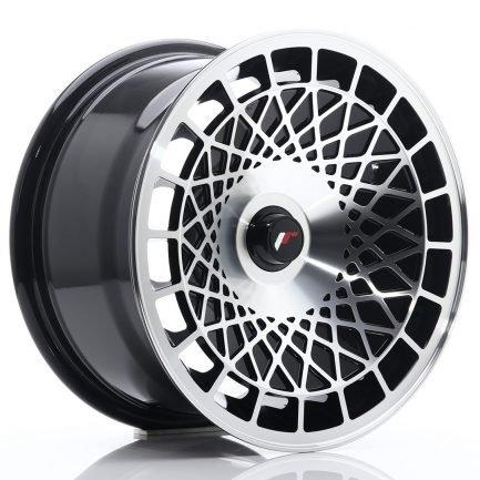 JAPAN RACING JR Wheels JR14 15x8 ET20-25 BLANK Gloss Black w/Machined Face 8.00x15