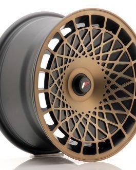 JR Wheels JR14 16×8 ET25 BLANK Matt Black w/Bronze Finish
