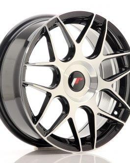 JR Wheels JR18 17×7 ET20-40 BLANK Gloss Black Machined Face