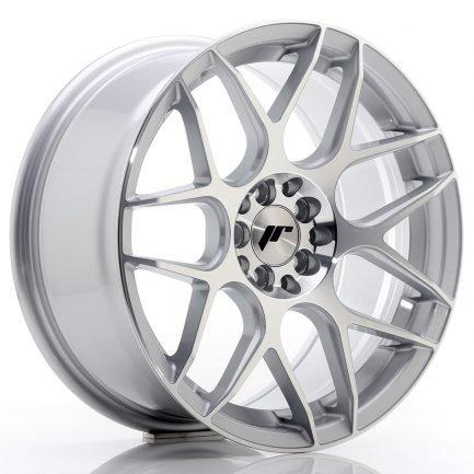 JAPAN RACING JR Wheels JR18 17x8 ET35 4x100/114 Silver Machined Face 8.00x17