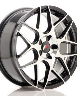 JR Wheels JR18 18×7,5 ET35-42 BLANK 5H Gloss Black Machined Face