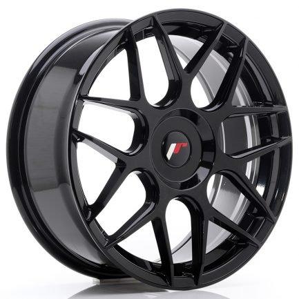 JAPAN RACING JR Wheels JR18 18x7,5 ET25-40 BLANK Glossy Black 7.50x18