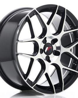 JR Wheels JR18 18×8,5 ET35-45 5H BLANK Gloss Black Machined Face