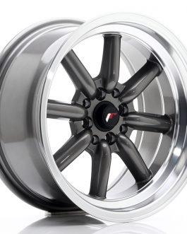 JR Wheels JR19 16×8 ET0 4×100/114 Gun Metal w/Machined Lip