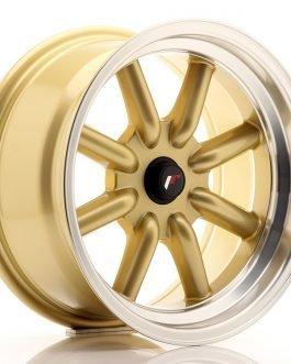 JR Wheels JR19 16×8 ET-20-0 BLANK Gold w/Machined Lip