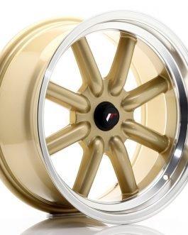 JR Wheels JR19 17×8 ET-20-0 BLANK Gold w/Machined Lip