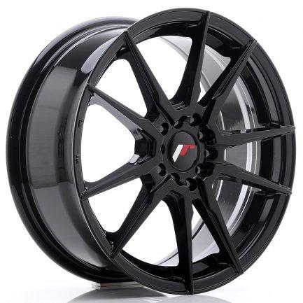 JAPAN RACING JR Wheels JR21 17x7 ET40 5x108/112 Glossy Black 7.00x17