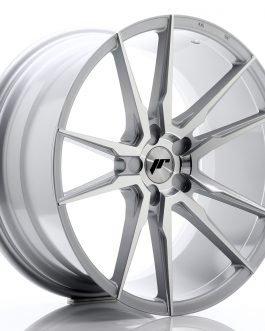 JR Wheels JR21 20×10 ET20-40 5H BLANK Silver Machined Face