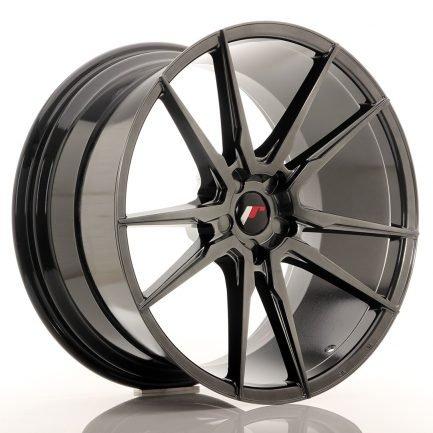 JAPAN RACING JR Wheels JR21 21x11 ET15-55 5H BLANK Hyper Black 11.00x21