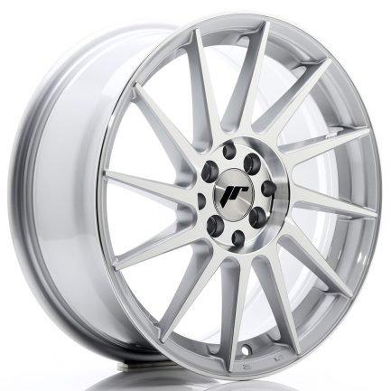 JAPAN RACING JR Wheels JR22 17x7 ET25 4x100/108 Silver Machined Face 7.00x17