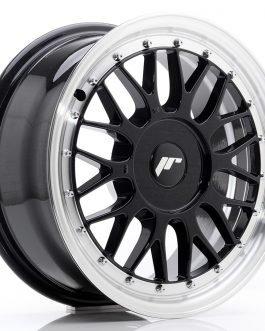 JR Wheels JR23 16×7 ET20-45 BLANK Gloss Black w/Machined Lip